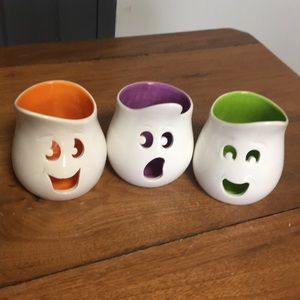 Set of 3 PartyLite Ghost votive holders